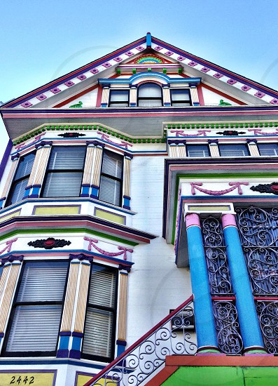 Noe Valley Victorian with a fanciful paint job.   photo