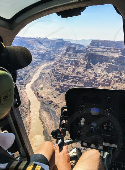 touring grand canyon by helicopter photo