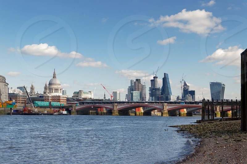 LONDON/UK - MARCH 21 : View down the Thames to the City of London on March 21 2018 photo
