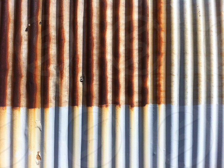 rust lines metal photo
