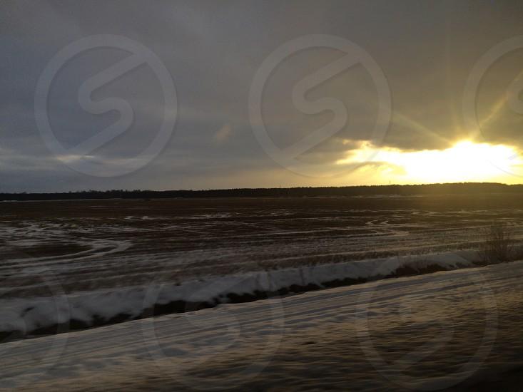 Estonian sunrise photo