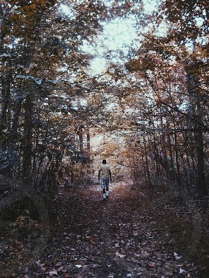walking man view photo