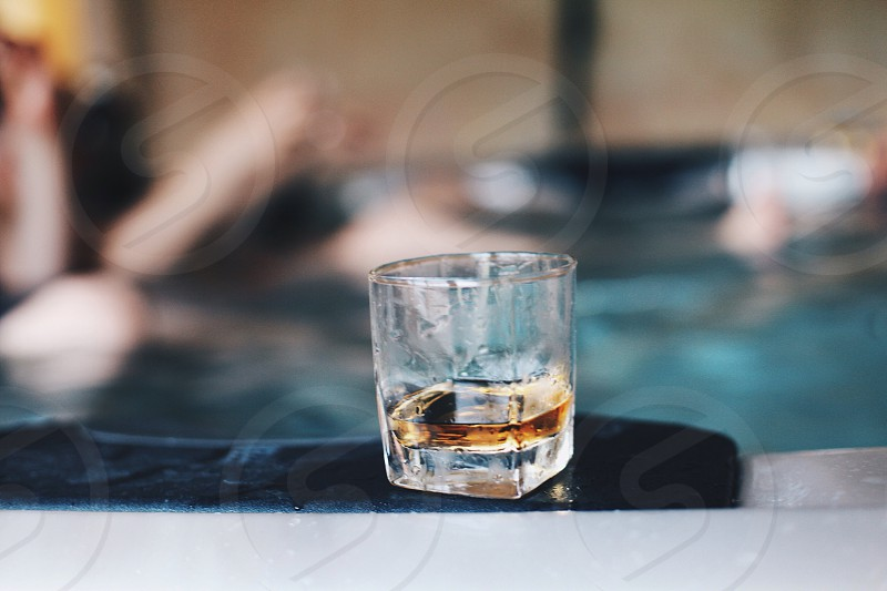 Glass with alcohol photo