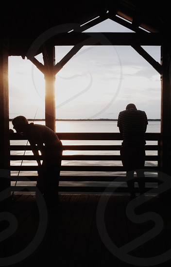 human leaning silhouette photo