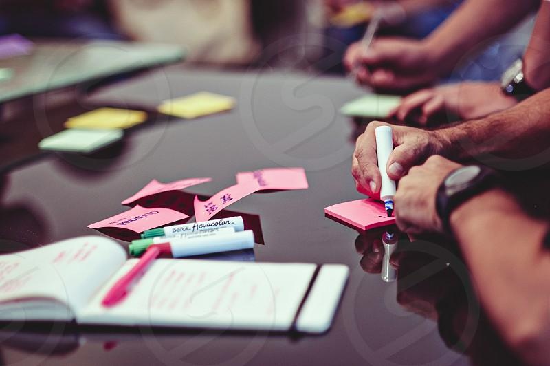 Creative team working together photo