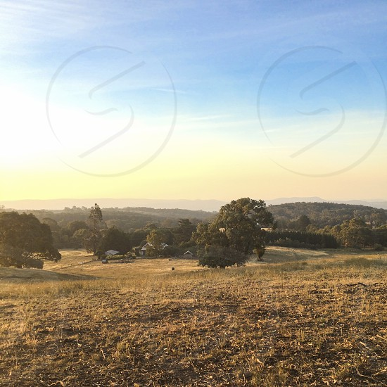 australia australian farm rural farmland farmhouse sunset golden hour photo