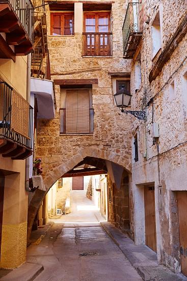 Beceite village arches in Teruel Spain in Matarrana area photo
