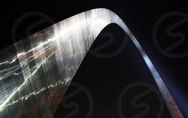 St Louis arch at night photo