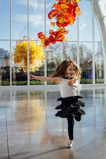 Dancing little girl  photo