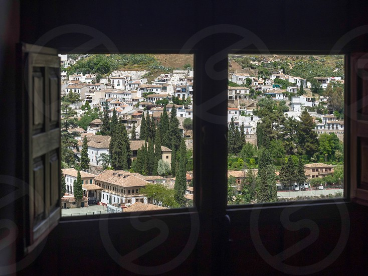 GRANADA ANDALUCIA/SPAIN - MAY 7 : View of Granada in Andalucia Spain on May 7 2014 photo