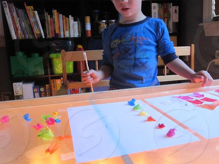Lifestyle education challenge kindergarten homework play and learn math. photo