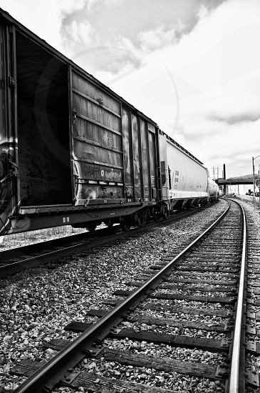 Urban Train Black and White Fine Art Photography photo