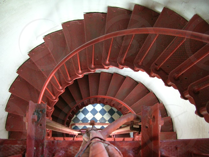 red spiral staircase photo