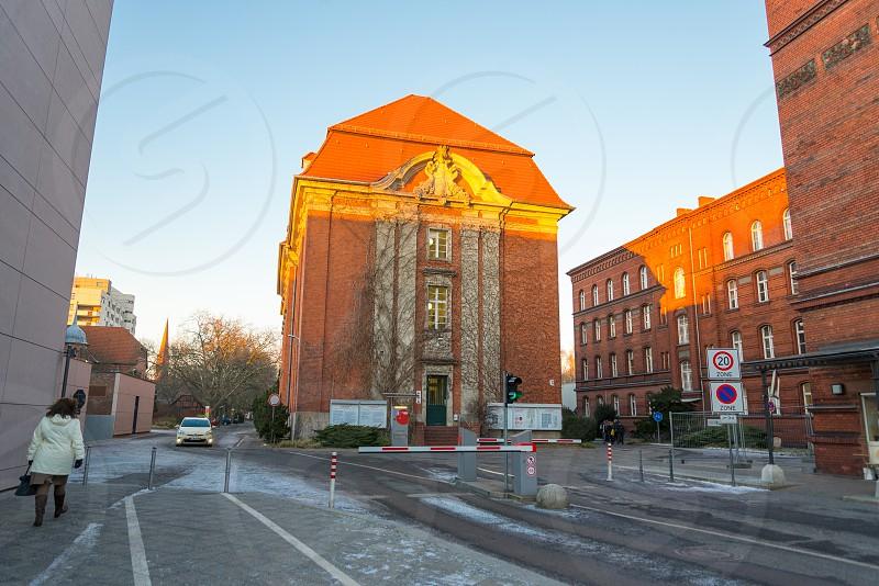 Prewar-building which is used as office building inside Moabit neighborhood in Berlin Germany photo