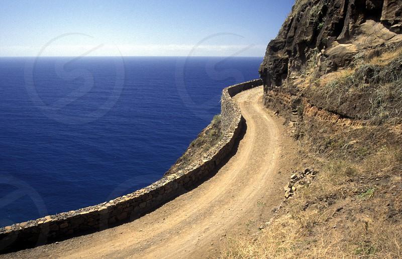 africa atlantic atlantic ocean ocean cape verde island street road way nature landscape coast sea ocean photo