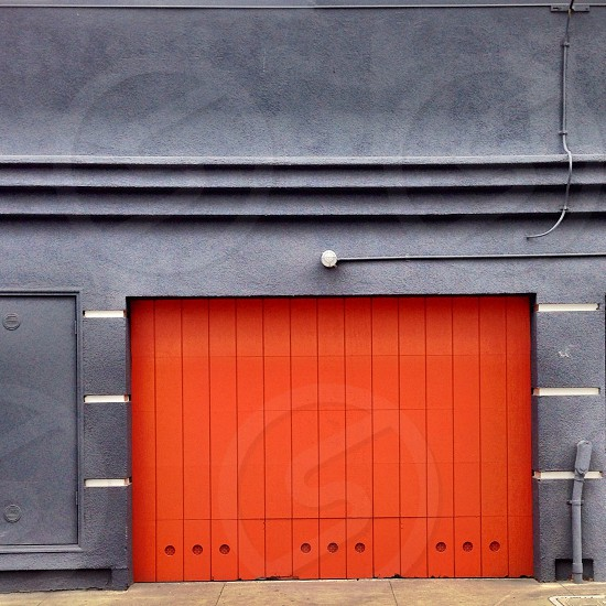 red shutter gate photo