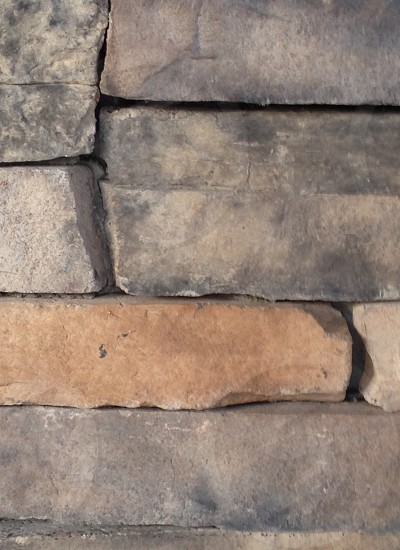 Stone wall simple lines outdoors photo