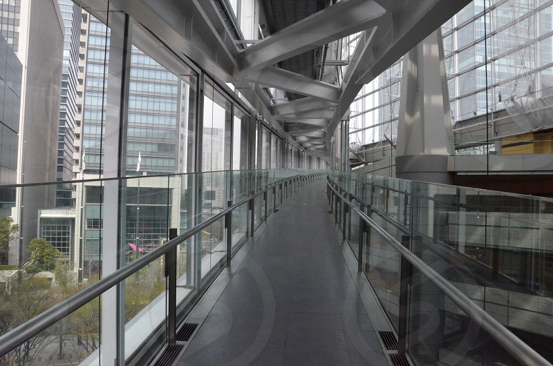 intrior skywalk in large building photo