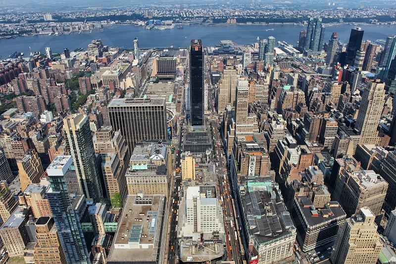 Manhattan  New York  panoramic  building trip  skyscrapers photo