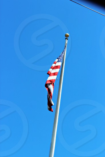 old glory American flag blue sky photo