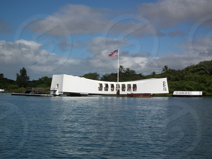 white arizona memorial pearl harbor photo