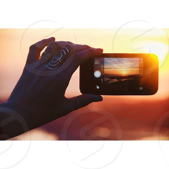 black iphone photo