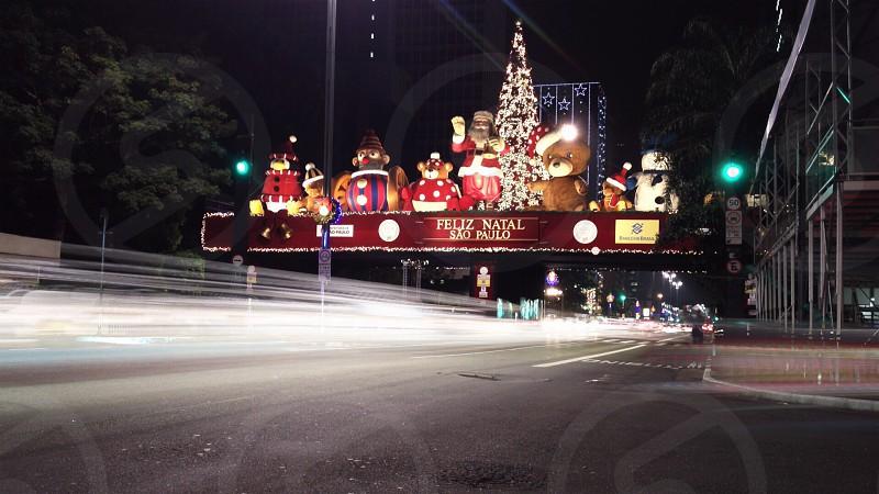 feliz natal sao paolo road sign photo