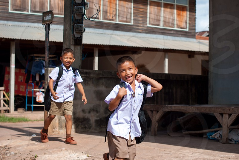 Thai adventure children diversity travel photo
