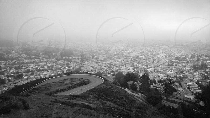 Foggy day in San Francisco  photo