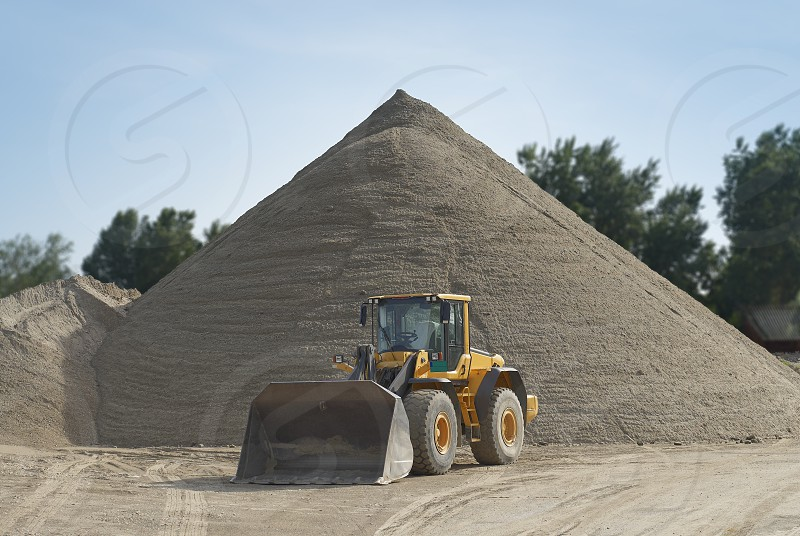 Loader on a construction site photo