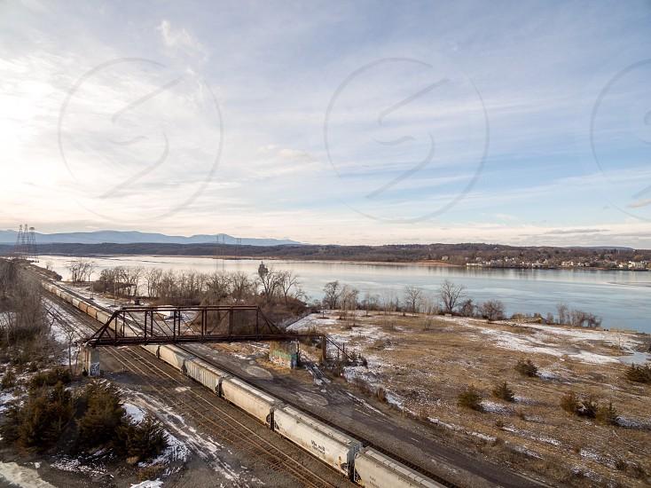 Aerial drone Hudson Hudson valley photo