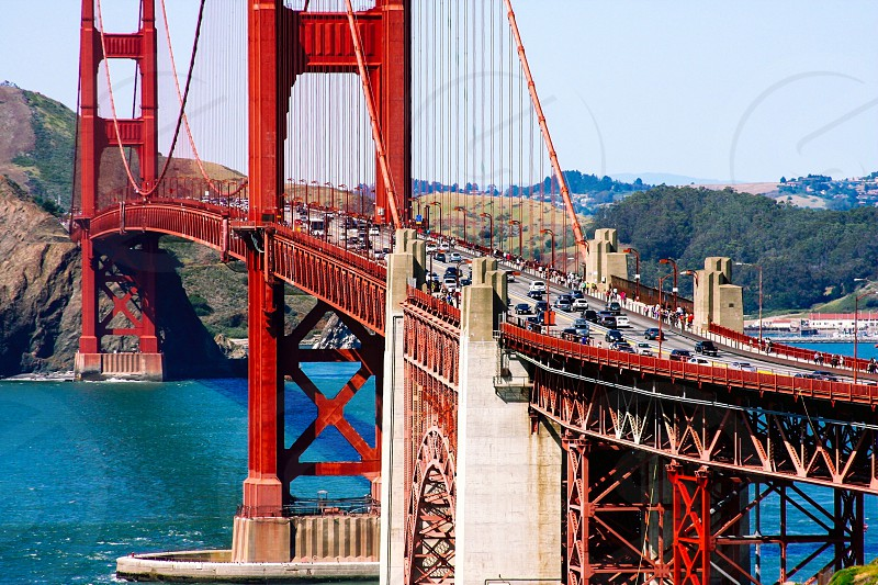 San Francisco Golden Gate Bridge cars city traffic iconic Bay Area Northern California  photo