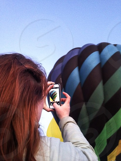 multicolored hot air balloon  photo
