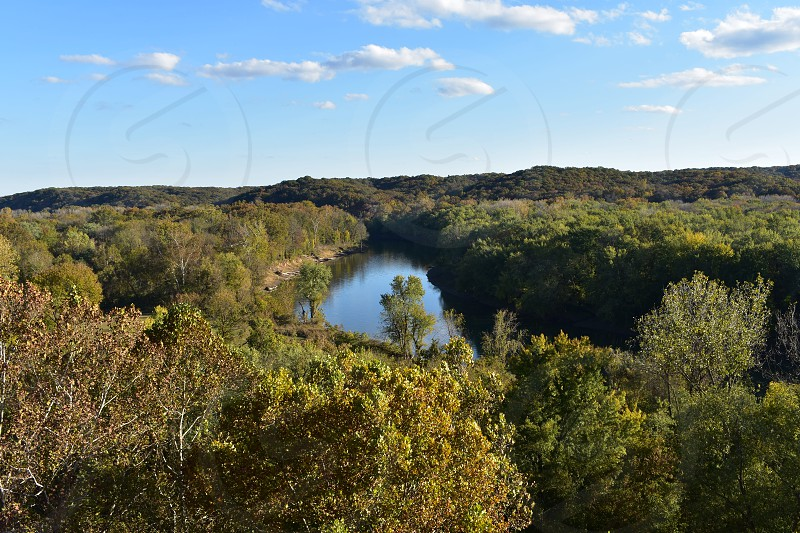 overlooking the Meramec river from Castlewood park photo