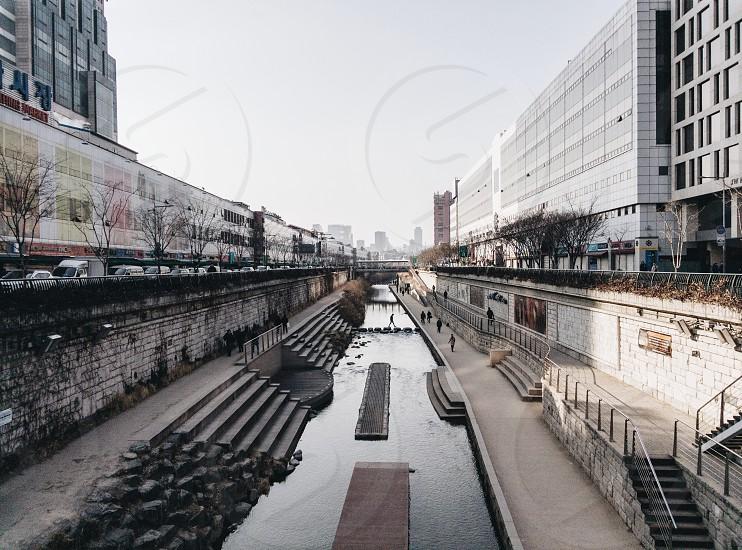 Cheonggyecheon River. Seoul's version of the Seine. photo