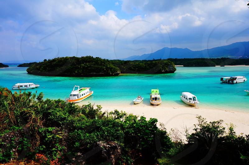 sea ocean Okinawa  photo