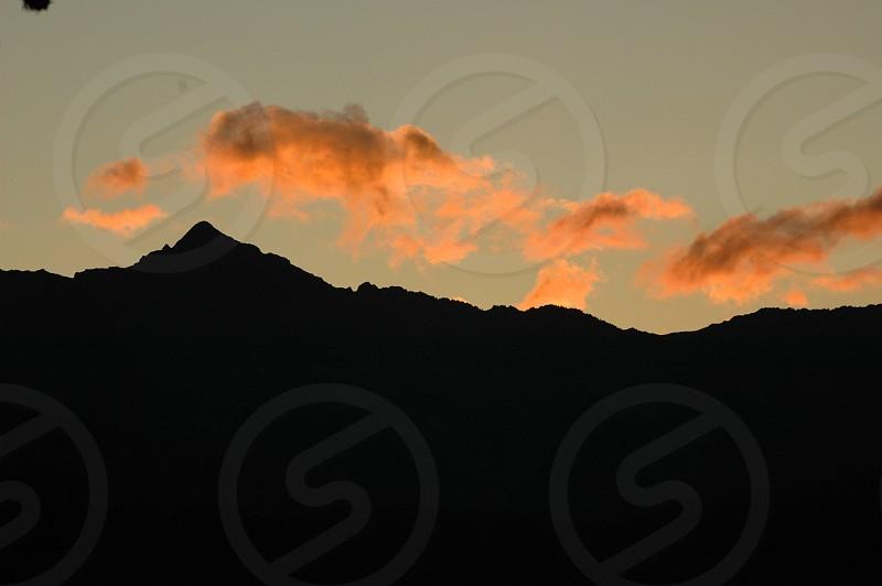 Sunset mountains photo
