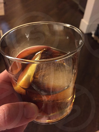 Bourbon drink glass enjoy beverage ice photo