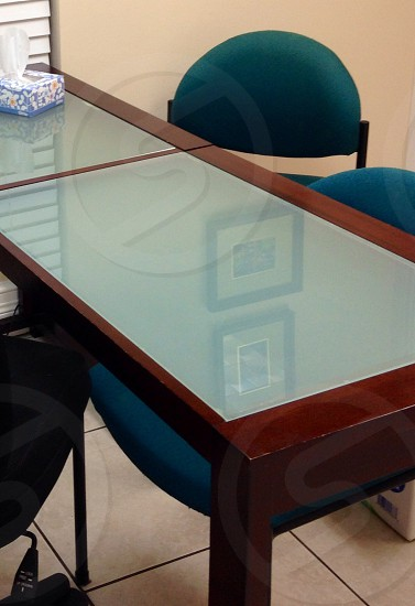 Office desk and chairs  photo