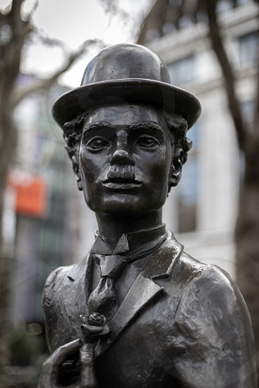 LONDON UK - MARCH 11 : Statue of Charlie Chaplin in Leicester Square London on March 11 2019 photo