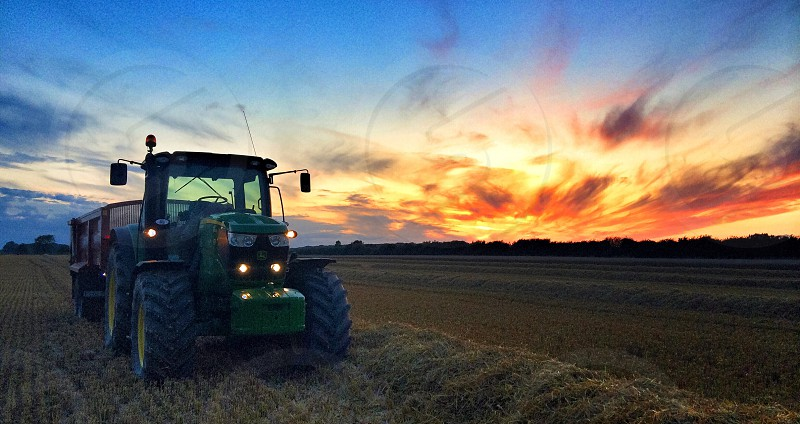 A lovely sunset on a summers evening photo
