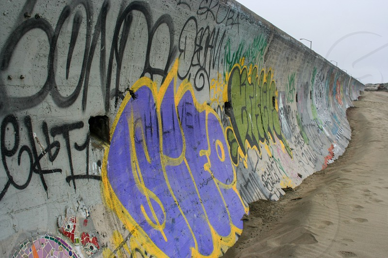 San Francisco wall graffiti  photo