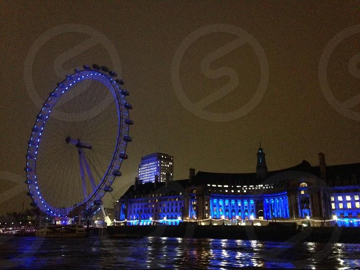 London London eye Thames photo
