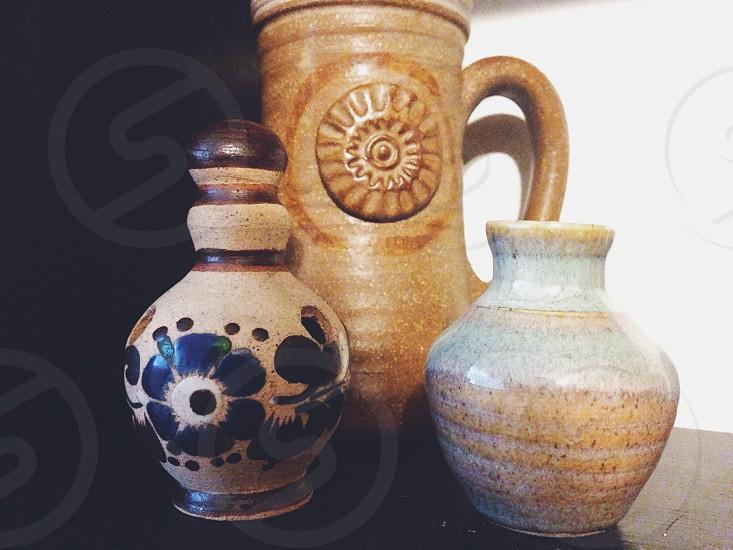 clay vases photo