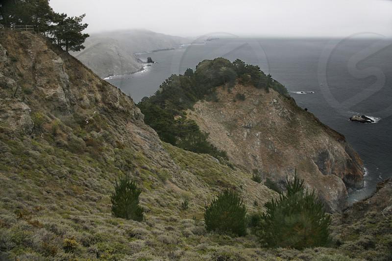 mountain and sea view photo