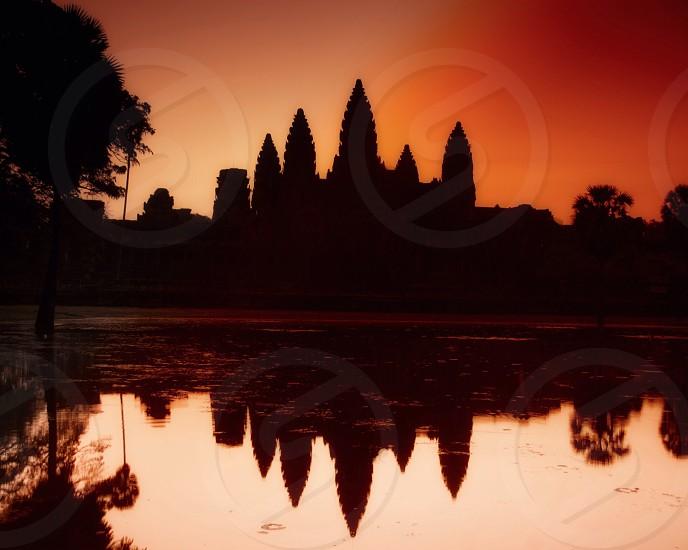 Sunrise at Angkor Wat Cambodia  photo