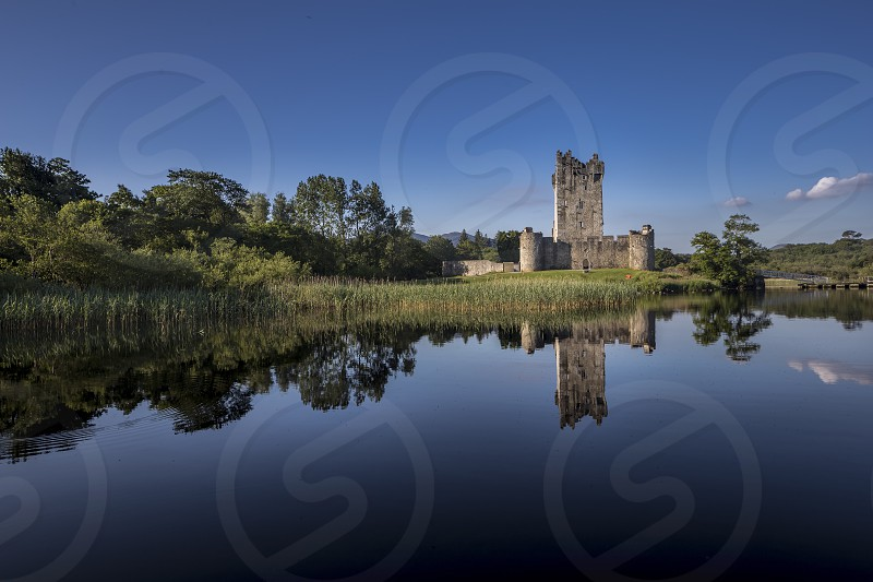 Castle lake reflection ireland Killarney  photo