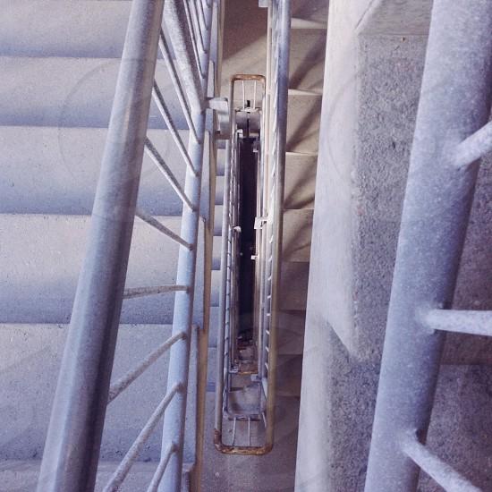 grey metal railing photo