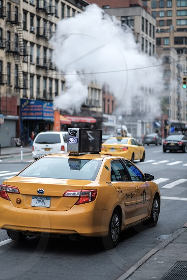 Ride share Yellow cab photo