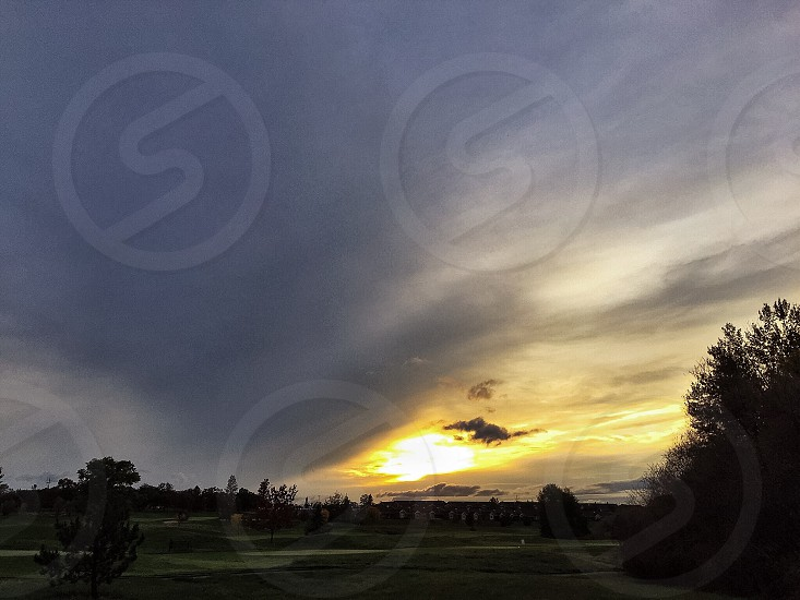 Sunset on the Golf Course photo